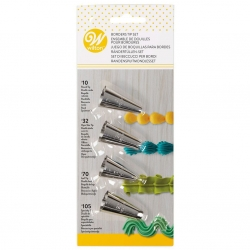 Wilton Piping Tip Sets: Border Tip Set