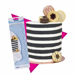 PME Acrylic Tall Patterned Side Scraper - STRIPES