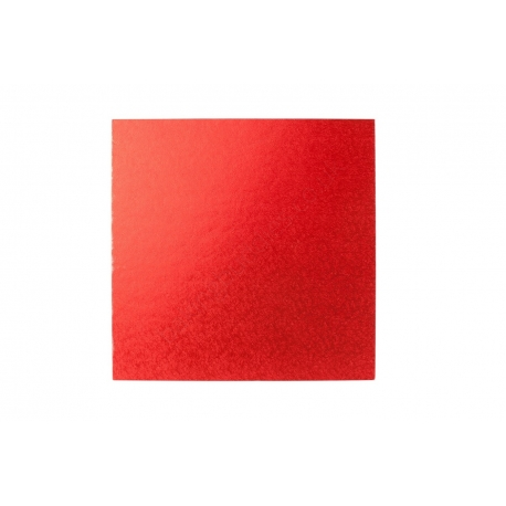 Red SQUARE 12mm thick Cake Drum/Board