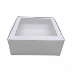 "White Window Cake Box 8""x8""x4"""