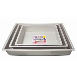 "PME Anodised Aluminium Oblong Cake Tins 3"" Deep"