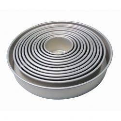 "PME Anodised Aluminium Round Cake Tins 3"" Deep"