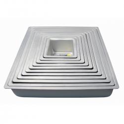 "PME Anodised Aluminium Square Cake Tins 3"" Deep"