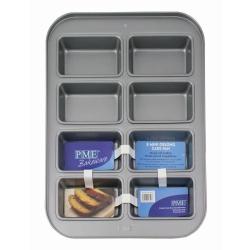 PME Non Stick 8 Hole Mini Oblong Cake Pan