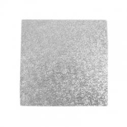 Silver Square Cake Card