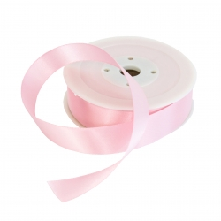 25mm Baby Pink Double Sided Satin Ribbon - 25m Roll