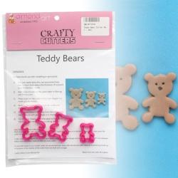 Teddy Bear Cutter Set - 3pc