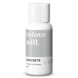 Colour Mill Concrete Oil Based Concentrated Icing Colouring 20ml