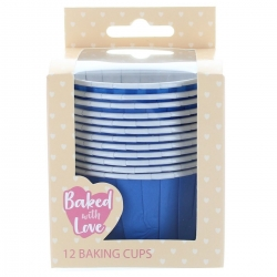 Blue Baking Cups - 50mm - Pack of 12