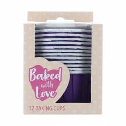 Purple Baking Cups - 50mm - Pack of 12