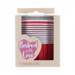Red Baking Cups - 50mm - Pack of 12