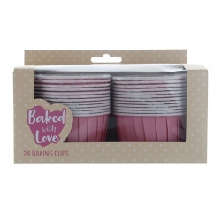 Pink Baking Cups - 60mm - Pack of 24