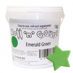 Emerald Green Roll 'n' Cover Sugarpaste - 1kg