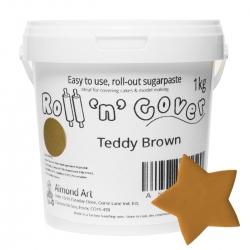 Teddy Brown Roll 'n' Cover Sugarpaste - 1kg