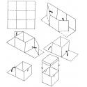 Cube Cake Box