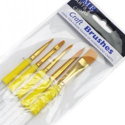 Set of 5 Craft Brushes