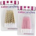 Spiral & Glitter Candles